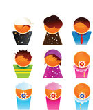 Family members. Vector web 2.0 illustration of family members Stock Photography