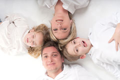Family members circle Stock Images