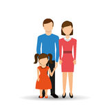 Family members design. Illustration eps10 graphic Royalty Free Stock Photos
