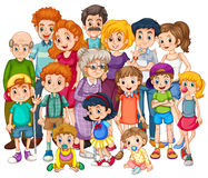 Family. Members happy together in one shot stock illustration