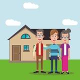 Family members house image Stock Photos