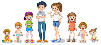 Family members. Illustration of a family members Stock Image