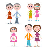 Family Members Illustration Stock Image