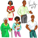 Family members isolated, set 1 Royalty Free Stock Photos