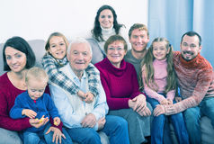 Family members making family photo stock photography