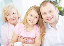 Family members Royalty Free Stock Images