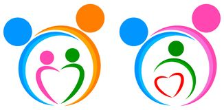 Family members unity logo. Simple illustration of family members unity logo on white background. attached eps file Royalty Free Stock Photo