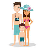 Family members on vacations. Vector illustration design Royalty Free Stock Images