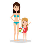 Family members on vacations. Vector illustration design Stock Photo