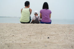 Family members watching Seascape Royalty Free Stock Photography