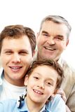Family of men Royalty Free Stock Photography