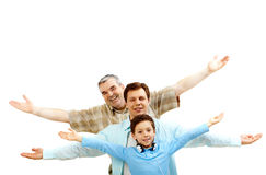 Family of men Stock Photo