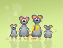 Family of mice Royalty Free Stock Image