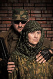 Family of military men Stock Images