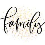 Family modern calligraphy print. Typographic poster design. Family printable cover. Family modern calligraphy print. Typographic poster design vector illustration