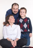 Family: Mom, dad and son in glasses. Happy Family: Mom, dad and son in glasses Stock Photography
