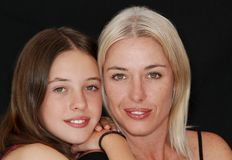 Family, Mom, Daughter, Smiling Royalty Free Stock Images