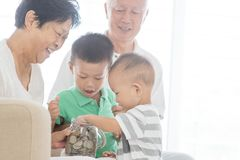 Family money saving concept Royalty Free Stock Images