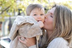 Family: Mother and Baby Stock Images