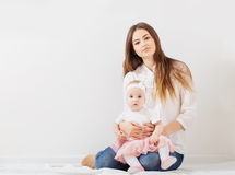 family mother and baby daughter Stock Image