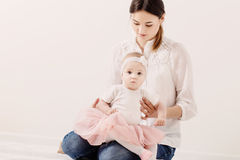 family mother and baby daughter Stock Images