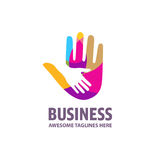 Family mother and baby hands. Care logo, togetherness concept logo. Union abstract hands logo. Hands closeup vector. Abstract hands logo Royalty Free Stock Photos