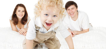 Family, Mother Father Parents with Kid Boy royalty free stock images