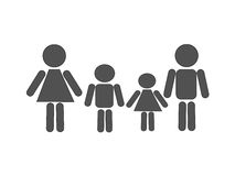 Family is a mother, father and two children Royalty Free Stock Photography