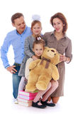 Family mother father and two daughters, playful Royalty Free Stock Images