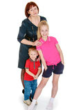 Family mother, teenage daughter and young son Royalty Free Stock Photos