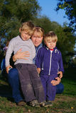 Family of mother and two sons Royalty Free Stock Image