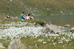 Family in Mountain Stock Images