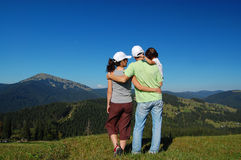 Family mountain vacation Royalty Free Stock Image