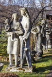 Family Mountaineers sculpture in Zakopane Stock Photography