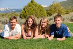 Family in the mountains. Family in the Colorado Rockies Royalty Free Stock Photography
