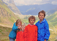 Family in mountains Stock Photos