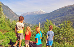 Family in mountains Royalty Free Stock Images