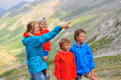 Family in mountains Stock Images