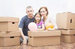 Family in move Stock Photos
