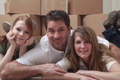 Family moving in Stock Photography
