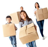 Family moving home Stock Photography