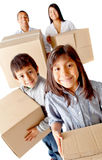 Family moving home Stock Photos
