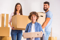 Family moving home Royalty Free Stock Photo