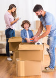 Family moving home Royalty Free Stock Photos