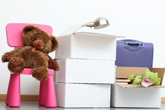 Family moving in Royalty Free Stock Photos