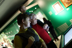 Family in museum Stock Images