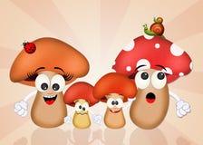 Family of mushrooms Stock Photography