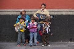 Family of musicians royalty free stock image