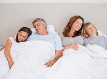 Family napping together Royalty Free Stock Image