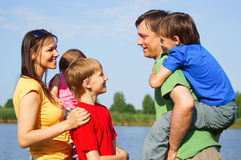 Family at nature Stock Photography